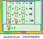 maths game with pictures ... | Shutterstock .eps vector #1403958896