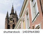spire of the nieuwe kerk  new... | Shutterstock . vector #1403964380