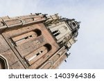 spire of the oude kerk  old... | Shutterstock . vector #1403964386
