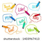 speech bubbles drawn with...   Shutterstock .eps vector #1403967413