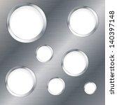 silver abstract tech metal... | Shutterstock .eps vector #140397148