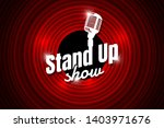 stand up comedy night live show ... | Shutterstock .eps vector #1403971676