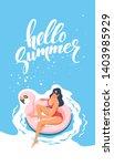hello summer. happy vacation.... | Shutterstock .eps vector #1403985929
