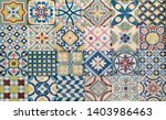 decorative ceramic tiles with a ...   Shutterstock . vector #1403986463