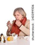 portrait of an elderly sick...   Shutterstock . vector #140399506