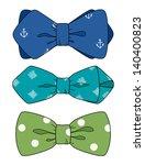 bow tie set | Shutterstock .eps vector #140400823