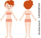 woman in full length front and...   Shutterstock .eps vector #1404008540
