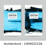 set of vector business card... | Shutterstock .eps vector #1404022136