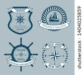 nautical emblems on the blue... | Shutterstock .eps vector #1404025859