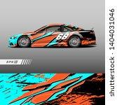 race car decal wrap design...   Shutterstock .eps vector #1404031046
