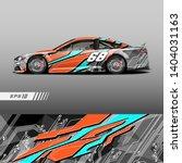 race car decal wrap design...   Shutterstock .eps vector #1404031163