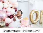 Stock photo first birthday party and cake smash 1404053690