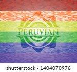 peruvian on mosaic background...   Shutterstock .eps vector #1404070976