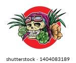 summer skeleton vector for... | Shutterstock .eps vector #1404083189