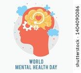 world mental health day.... | Shutterstock .eps vector #1404090086