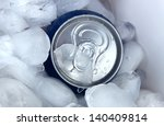 metal tin with ice close up | Shutterstock . vector #140409814
