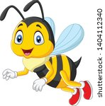 cartoon happy bee isolated on... | Shutterstock .eps vector #1404112340