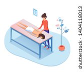 massage therapy isometric... | Shutterstock .eps vector #1404118013