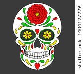 day of the dead colorful skull... | Shutterstock .eps vector #1404127229