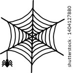 spider web icon. outline spider ... | Shutterstock .eps vector #1404127880