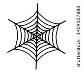 spider web icon. outline spider ... | Shutterstock .eps vector #1404127883