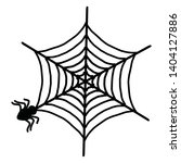 spider web icon. outline spider ... | Shutterstock .eps vector #1404127886