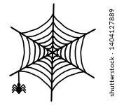 spider web icon. outline spider ... | Shutterstock .eps vector #1404127889