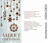 card with christmas | Shutterstock . vector #140412853