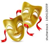 theatrical mask. isolated. mesh.... | Shutterstock .eps vector #1404130559