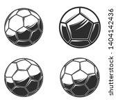 football soccer balls on white... | Shutterstock .eps vector #1404142436