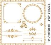 vintage set. floral elements... | Shutterstock . vector #1404145316