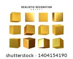 cube in gold metalic. square... | Shutterstock .eps vector #1404154190
