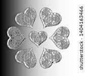 seven black and white relief... | Shutterstock . vector #1404163466