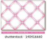 ribbon bulletin board. tuck... | Shutterstock .eps vector #140416660
