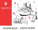 cappadocia hand drawn turkish... | Shutterstock .eps vector #1404176309