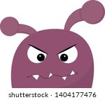 a purple angry monster with... | Shutterstock .eps vector #1404177476