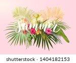 summer tropical design for... | Shutterstock . vector #1404182153