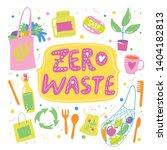 zero waste life style vector... | Shutterstock .eps vector #1404182813