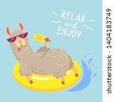 Illustrations Of A Funny Llama...
