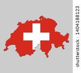 map of switzerland with... | Shutterstock .eps vector #1404188123