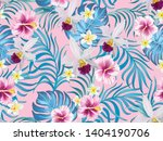 exotic tropical flowers coral...   Shutterstock .eps vector #1404190706