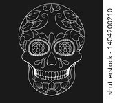 day of the dead skull with... | Shutterstock .eps vector #1404200210