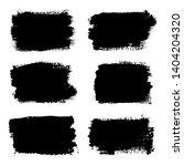 brush strokes set  isolated... | Shutterstock .eps vector #1404204320