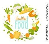 healthy food set    vegetables  ... | Shutterstock .eps vector #1404210923