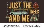 camping badge design. outdoor... | Shutterstock .eps vector #1404216329