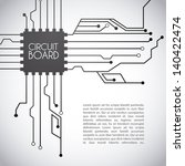 Circuit Board Design Over Gray...