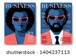 two business magazine cover...   Shutterstock .eps vector #1404237113