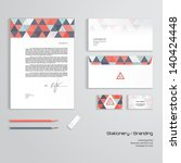 vector corporate identity... | Shutterstock .eps vector #140424448