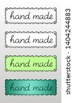Set Of Four Hand Drawn Logos Or ...
