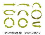 several types of arrows in... | Shutterstock .eps vector #140425549
